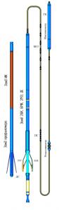 Прибор комплексный электрического каротажа, профилеметрии и инклинометрии К7А-723(к8)