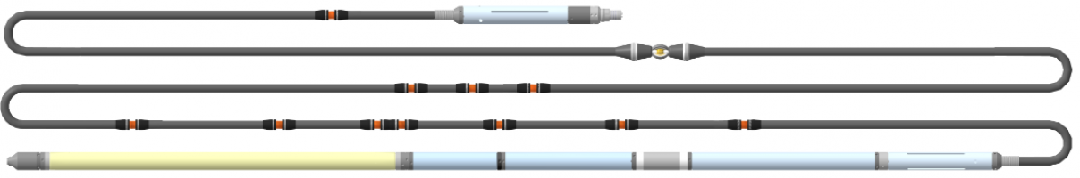 Прибор комплексный электрического каротажа, и инклинометрии К1А-723-М(К8)