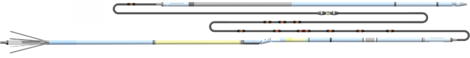 Прибор комплексный электрического каротажа, профилеметрии и инклинометрии К7А-723-M(К8)
